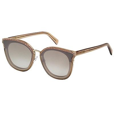 VEDI VERO 方框 平面鏡片 太陽眼鏡 (咖啡色)