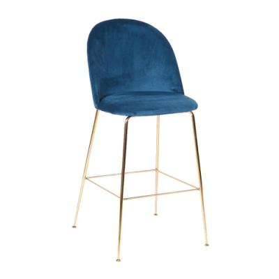 Bernice-羅瑞亞質感絨布面吧台椅/高腳椅(二色可選)-51x56x109cm
