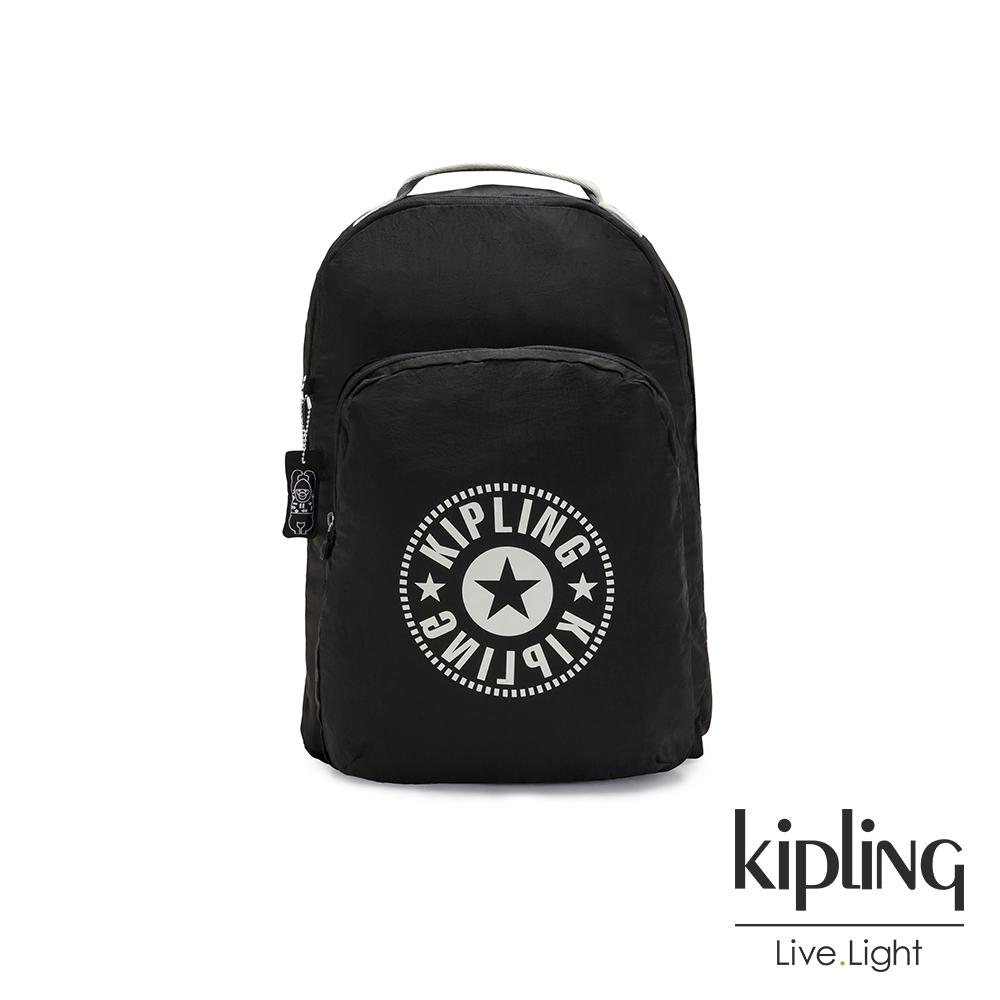Kipling 沈穩極致黑好收納後背包-BACKPACK