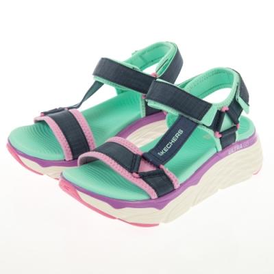 SKECHERS  女健走系列涼拖鞋 MAX CUSHIONING SANDAL-140125NVMT