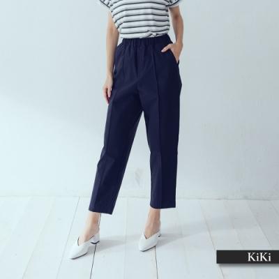 【KiKi】簡約休閒七分-長褲(二色)