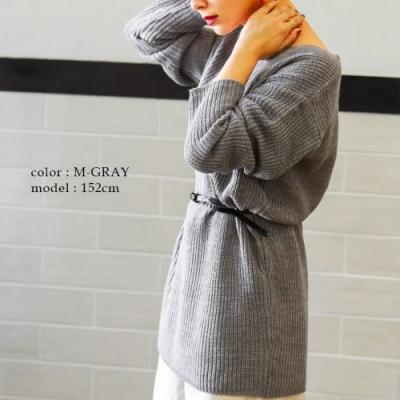 Fashion Letter 多色舒適V領落肩針織上衣(共七色)