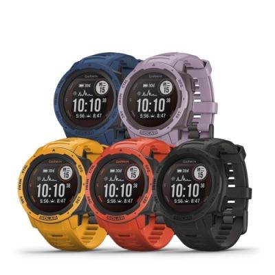 [時時樂限定] GARMIN INSTINCT Solar 本我系列 太陽能GPS腕錶 潮流炫色版