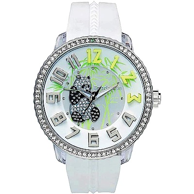 Tendence 天勢 Panda 限量版熊貓手錶-白/52mm TY430401