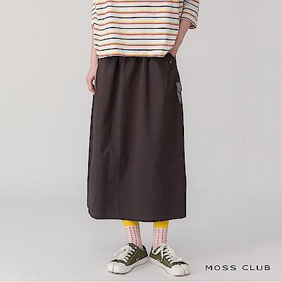 【MOSS CLUB】口袋拼接造型-長裙(共二色)