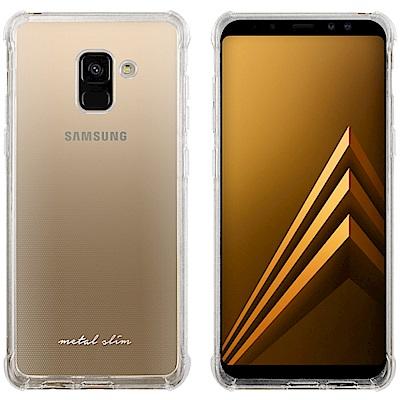 Metal-Slim Samsung Galaxy A8 (2018) 防摔抗震空壓手機殼