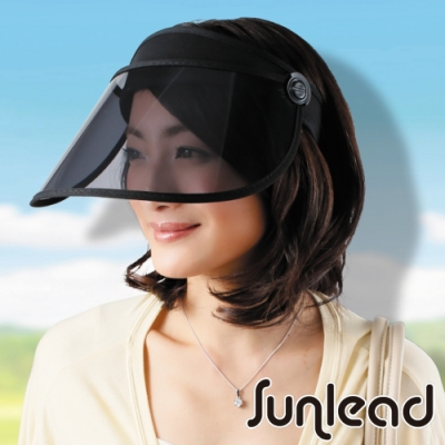 Sunlead 防曬護臉專用。透明長帽簷涼感效果遮陽帽/中空帽