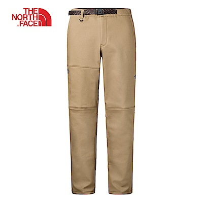 The North Face北面男款卡其色保暖抓絨長褲|3L7FT5C