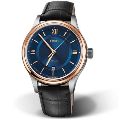 Oris豪利時CLASSIC不凡品味手錶-42mm/藍