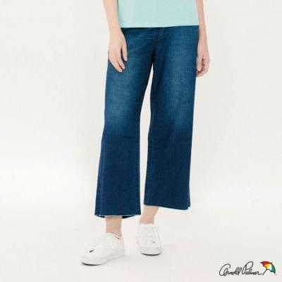 Arnold Palmer-女裝-棉麻混紡牛仔寬褲-深藍