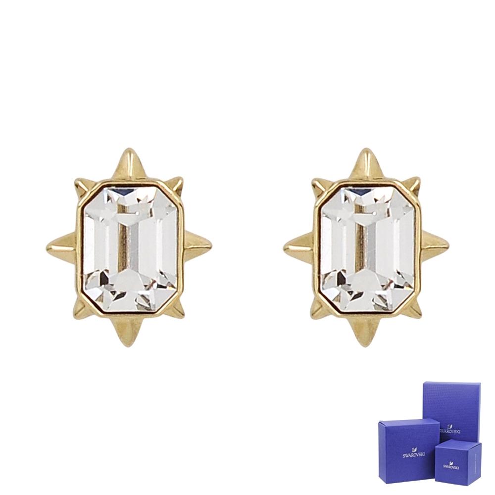 SWAROVSKI 施華洛世奇 TAROT MAGIC璀璨水晶光芒造型金色耳環