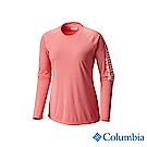 Columbia 哥倫比亞 女款-UPF50快排長袖上衣-粉紅 UFL61600PK