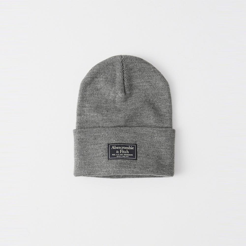 A&F 經典標誌舒適保暖毛帽-灰色 AF Abercrombie