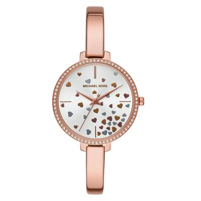 Michael Kors 心心飛躍晶鑽腕錶-玫瑰金-MK3978-36mm