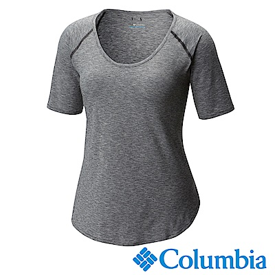 Columbia哥倫比 女款-防曬50快排短袖上衣-深灰UAR10710