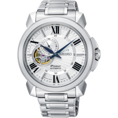 SEIKO 精工錶 Premier( SSA369J1)白面機械錶x42.9mm