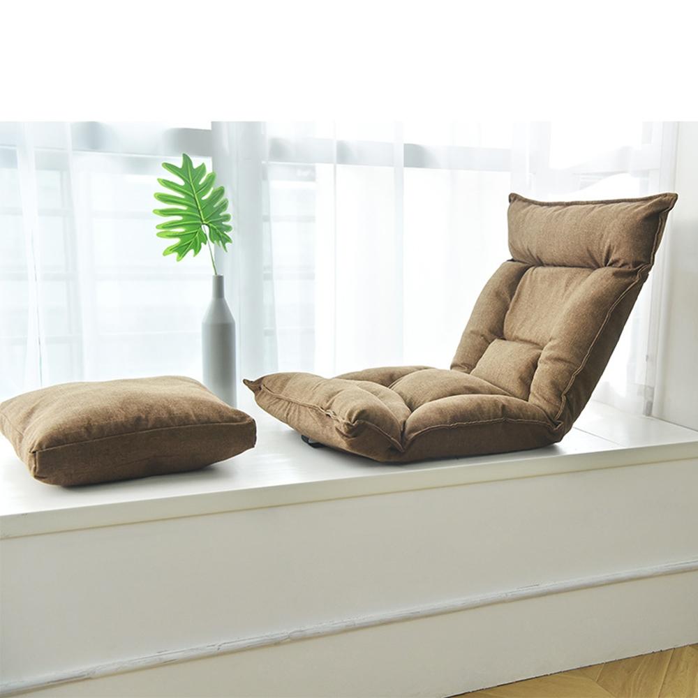 【E-Pin逸品生活】日式榻榻米折疊懶人沙發(摺疊椅/懶人椅/和室椅/送抱枕)