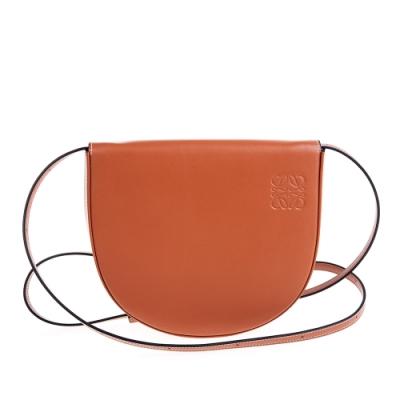 LOEWE 新款Heel Mini馬蹄型肩背/斜背包 (焦糖色)