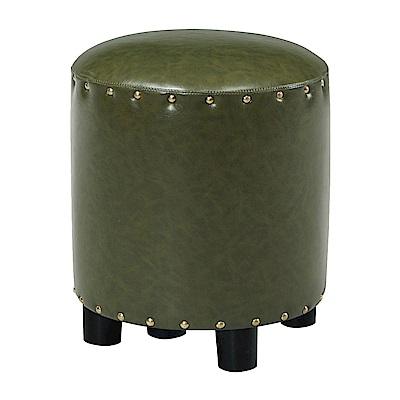 文創集 巴塔現代風皮革椅凳/圓凳(六色可選)-35x35x39cm-免組
