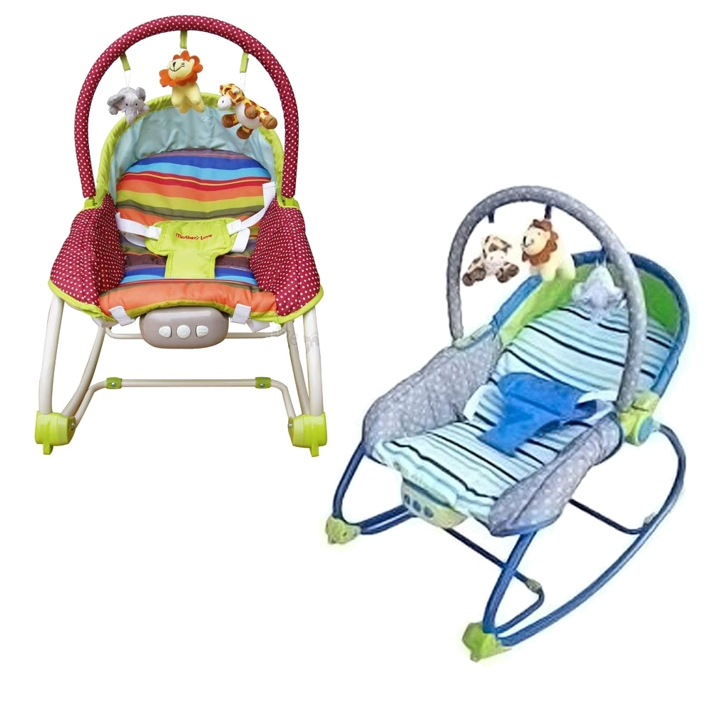 Mother's Love 嬰兒震動搖椅(藍/綠)BR212