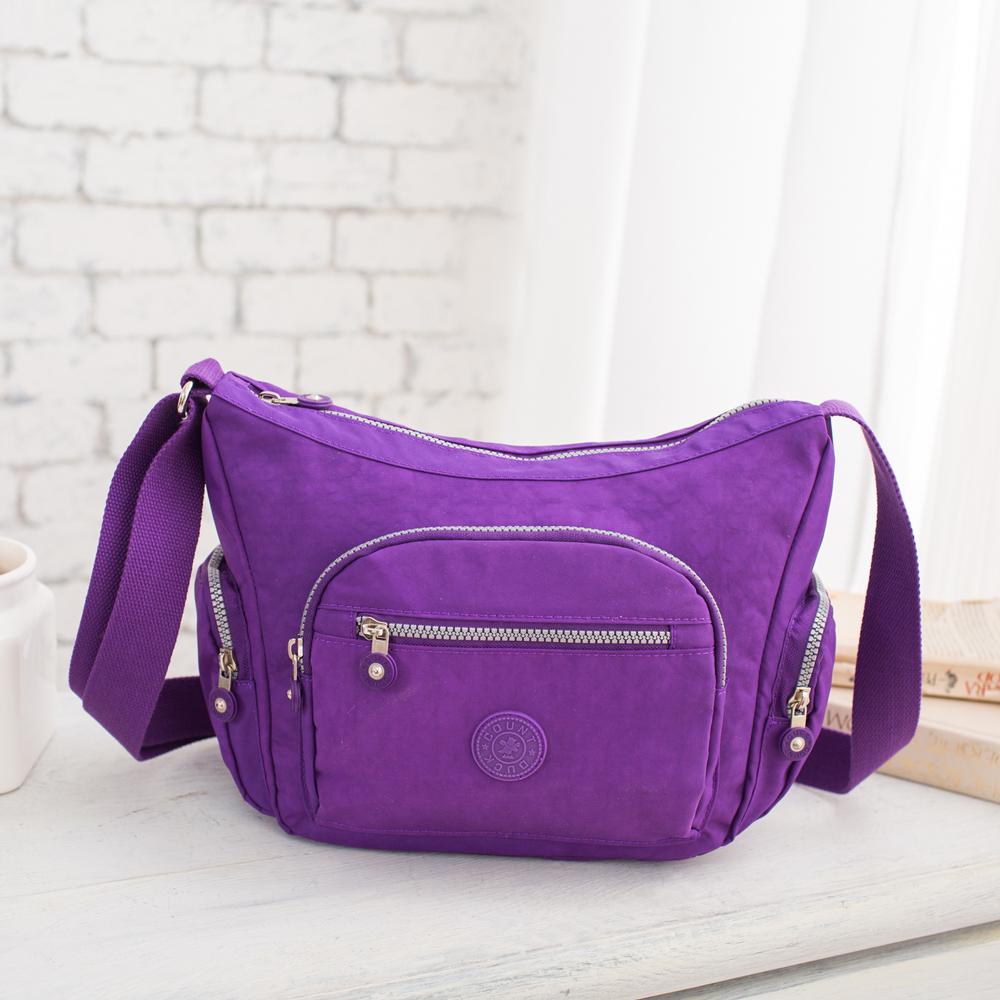 COUNT DUCK 美系悠活輕量休閒人氣款側背-CD-011-紫色