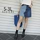 SISTERS 時尚歐膩拚色牛仔褲裙 短裙/S-3L product thumbnail 1