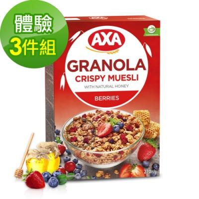 699免運瑞典AXA藍莓草莓穀物麥片3件組270gx3