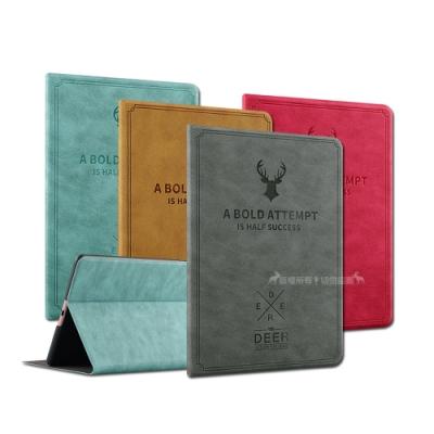 VXTRA iPad Air 北歐鹿紋風格平板皮套 防潑水立架保護套