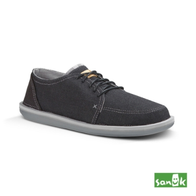SANUK 男款 US9 現代騎士系列綁帶休閒鞋(黑色)