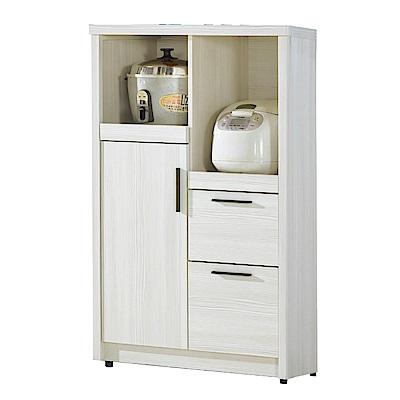 文創集 哈姆特時尚2.7尺木紋單門餐櫃/收納櫃-80x40x120cm免組