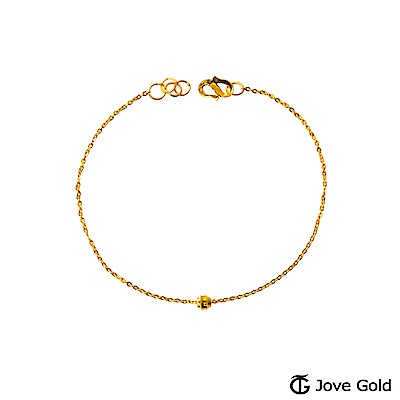 JoveGold漾金飾 小焦點黃金手鍊