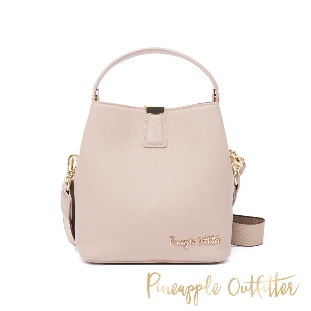 Pineapple Outfitte-YETTY 牛皮典雅兩用手提包-粉藕色