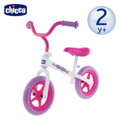 [滿額送腳皮機]chicco-幼兒滑步車-粉紅彗星