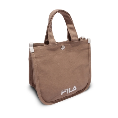 Fila 托特包 Hand Shoulder Tote Bag 斐樂 外出 輕便 手提包 可斜背 穿搭 淺褐 白 BMV7014KK