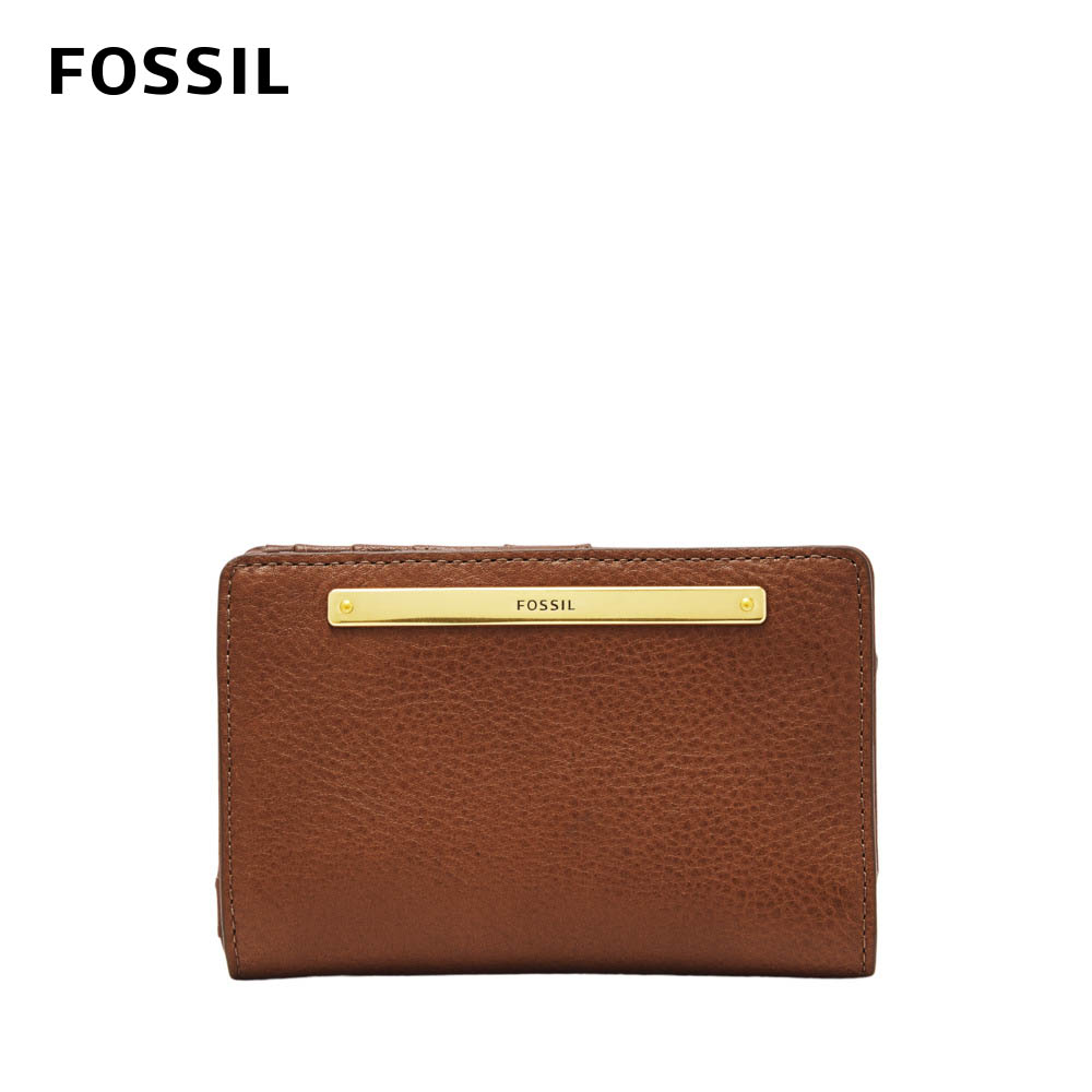 FOSSIL LIZA輕巧型真皮短夾-棕色 SL7986200