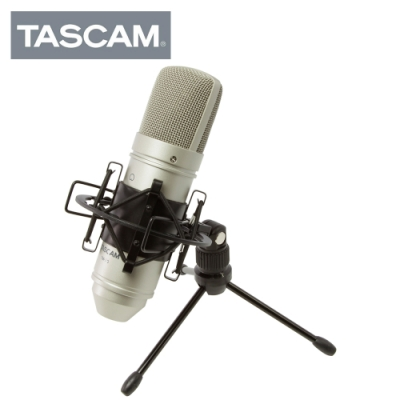 TASCAM TM-80 Silver 電容麥克風套裝組 銀色版