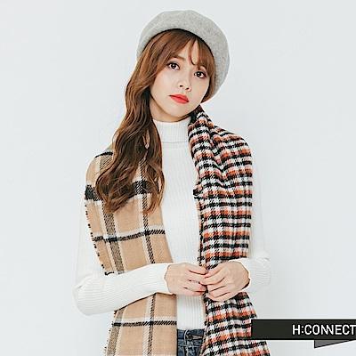 H:CONNECT 韓國品牌 -質感毛呢畫家帽-灰