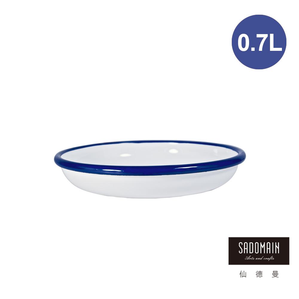 仙德曼 SADOMAIN-琺瑯鄉村風圓餐盤28cm