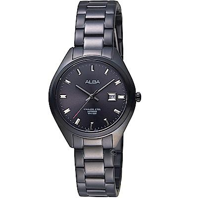 ALBA雅柏漫步都會時尚腕錶(AH7R19X1 VJ22-X280SD)-黑