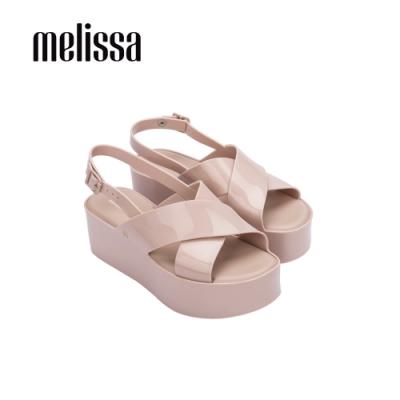 Melissa  ESSENTIAL 厚底交寬帶叉造型涼鞋- 粉
