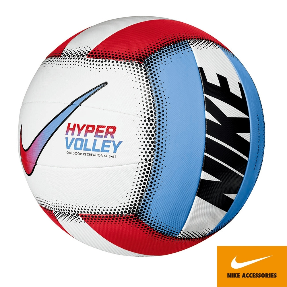 NIKE HYPER軟式排球 18P 白紅藍 N100070198205