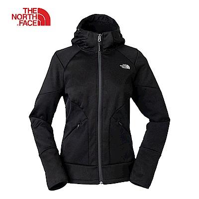 The North Face北面女款黑色舒適透氣連帽夾克 3L9FJK3