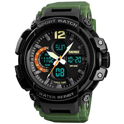 SKMEI 時刻美1343-雙機芯多功能防震防水電子錶(3色任選)