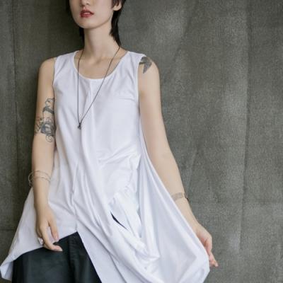 設計所在Style-中性不規則多種穿法中長版背心