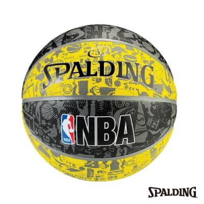 SPALDING NBA塗鴉系列 - 黃/黑 #7
