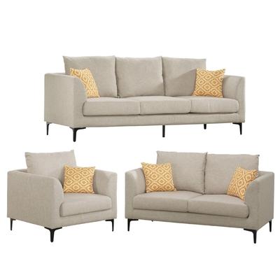 文創集 古亞夫  時尚可拆洗棉麻布獨立筒沙發椅組合(1+2+3人座)-210x85x87cm免組