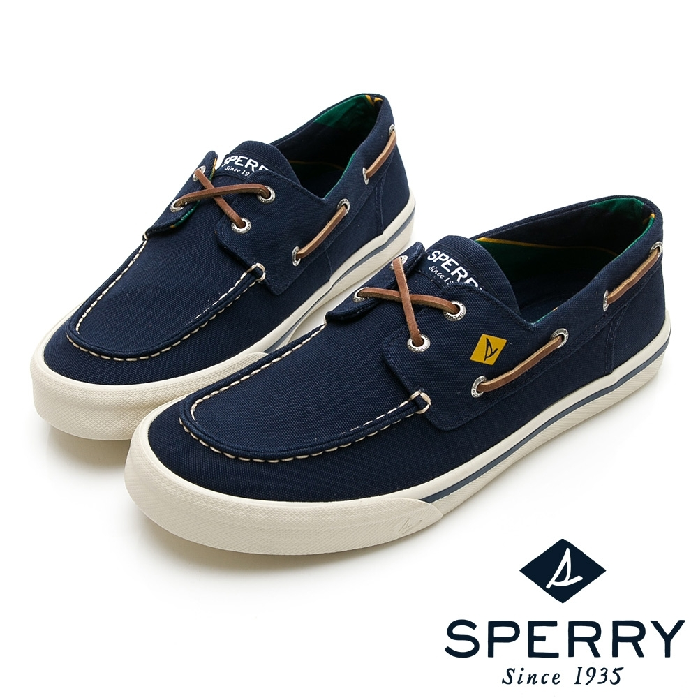 SPERRY 時尚學院經典帆布帆船鞋(男)-海軍藍