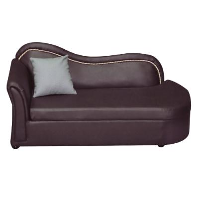 綠活居 湯尼時尚咖耐磨皮革貴妃椅(左&右二向扶手可選)-165x71x75cm免組