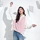 Victoria 針織剪接配色女襯衫-女-粉 product thumbnail 1