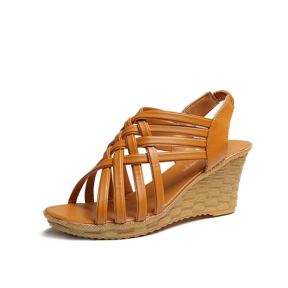 KEITH-WILL時尚鞋館 獨家價好感印象涼跟鞋-棕
